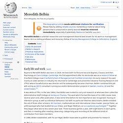 Meredith Belbin
