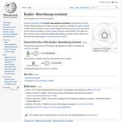 Kepler–Bouwkamp constant