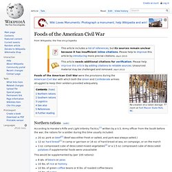 Foods of the American Civil War
