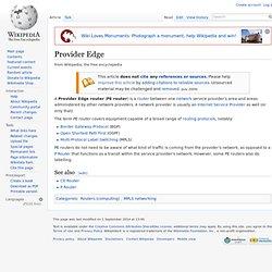 Provider Edge
