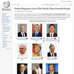 Forbes Magazine's List of The World's Most Powerful People
