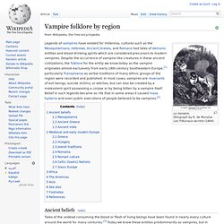 Vampire folklore by region