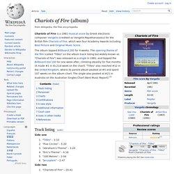 Chariots of Fire (album)