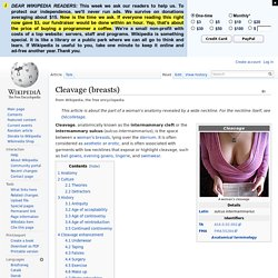 Cleavage (breasts)