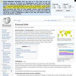 External debt