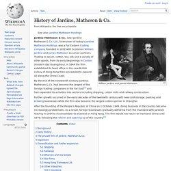 History of Jardine, Matheson & Co.