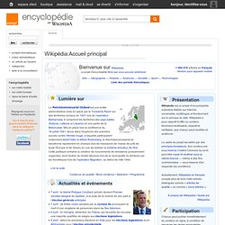 Accueil - Encyclopédie par wikipédia - Orange