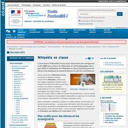 Wikipédia en classe — Enseigner avec le numérique