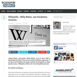 Wikipédia : Willy Wales, son fondateur inconnu