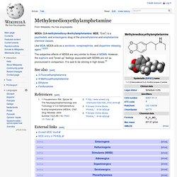 Methylenedioxyethylamphetamine