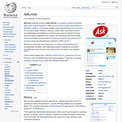 Overview of the Ask.com Search Engine