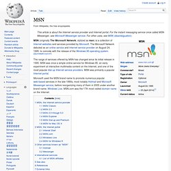 MSN (Wikipedia)
