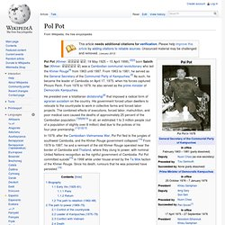 pol pot research paper Pol pot, to a very large how to write a research paper how to write an essay to what extent did pol pot have a catastrophic effect on society (2007.