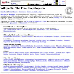Wikipedia: HomePage