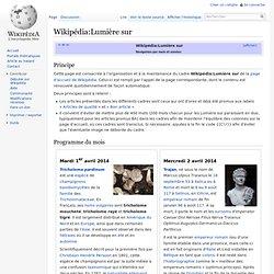 Wikipédia:Lumière sur