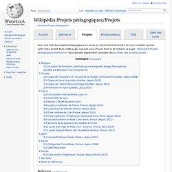 Wikipédia:Projets pédagogiques/Projets