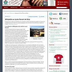Wikipédia au lycée Renoir de Nice