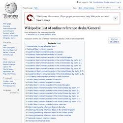 :List of online reference desks/General