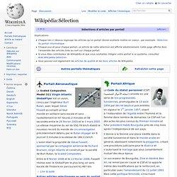Wikipédia:Sélection