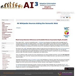 99 Wikipedia Sources Aiding the Semantic Web » AI3