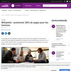 Wikipédia : seulement 18% de pages pour les femmes