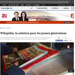 Wikipédia, la solution pour les jeunes générations