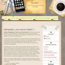 Wikipédia, une source fiable ?