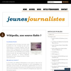 Wikipedia, une source fiable ?