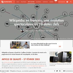 Wikipédia en français, une évolution spectaculaire en 10 dates clefs