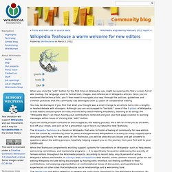 Wikipedia Teahouse a warm welcome for new editors
