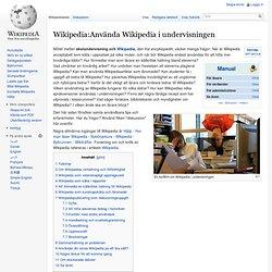 Använda Wikipedia i undervisningen