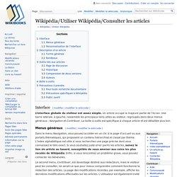 Wikipédia/Utiliser Wikipédia/Consulter les articles
