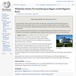 Archiv/Veranstaltungen/Siggen 2008/Siggener Kreis