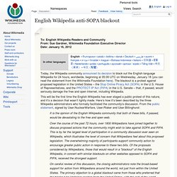 English Wikipedia anti-SOPA blackout