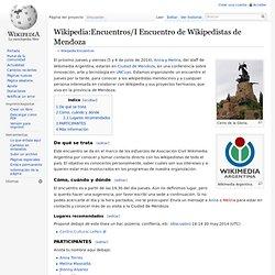 Encuentros/I Encuentro de Wikipedistas de Mendoza