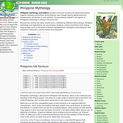 Philippine Mythology - Wikipilipinas: The Hip 'n Free Philippine Encyclopedia