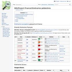 WikiProject France/Itinéraires pédestres