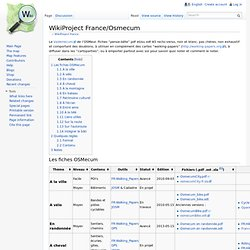 WikiProject France/Osmecum