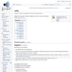 1984 - Wikiquote, le recueil de citations libres
