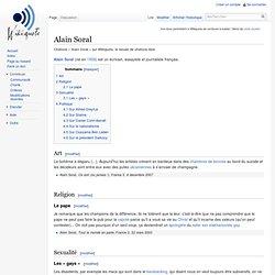Alain Soral - Wikiquote, le recueil de citations libre
