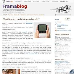 WikiReader, un futur cas d'école ?