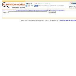Wiki Summarizer