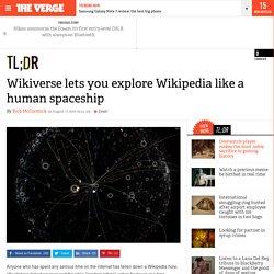 Wikiverse lets you explore Wikipedia like a human spaceship