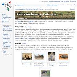 Parcs nationaux d'Afrique — Wikivoyage, le guide de voyage et de tourisme collaboratif gratuit