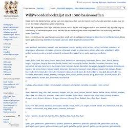 WikiWoordenboek:Lijst met 1000 basiswoorden - WikiWoordenboek