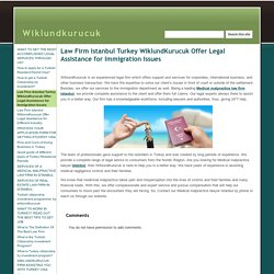 Law Firm Istanbul Turkey WiklundKurucuk Offer Legal Assistance for Immigration Issues - Wiklundkurucuk