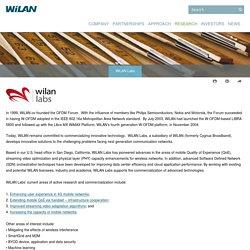WiLAN - Research - WiLAN Labs