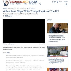 Wilbur Ross Naps While Trump Speaks At The UN