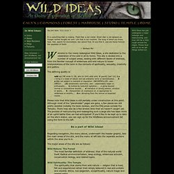 Wild Ideas: an online celebration of the wild