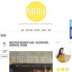 Wild Rice No-Meat Loaf : gluten-free, grain-fee, vegan